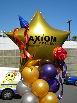 Axiom custom foil balloon column